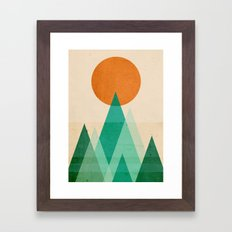 No mountains high enough Framed Art Print