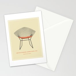 Mid-Century Wire Lounge Chair Stationery Cards