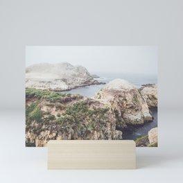 Salt Flats | Misty Foggy Landscape Photography of California Ocean Coast Mini Art Print