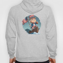 Uncle Sam Riding a Boat Hoody