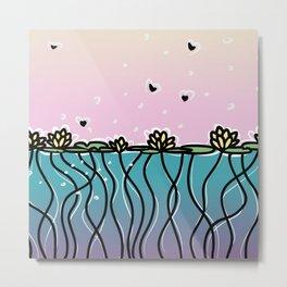 Underwater Lilies Metal Print