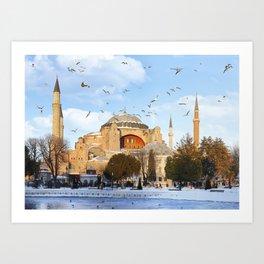Hagia Sophia in Istanbul,Turkey Art Print
