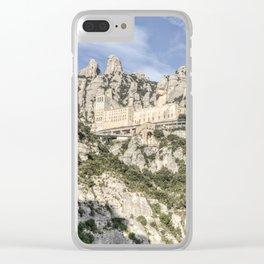 Montserrat Mountain (Catalonia) Clear iPhone Case