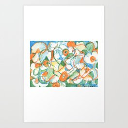 Abstracted Daffodils Art Print