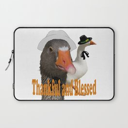 Thankful and Blessed Thanksgiving Pilgrims Laptop Sleeve