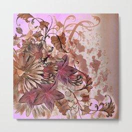 Floral Flourish Metal Print