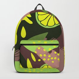 Abstract Hand Drawn Botanical Collection, No 02 Backpack