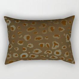Bronzed Leopard Rectangular Pillow