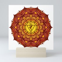 Solar Plexus Mandala Chakra #01 Mini Art Print