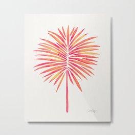 Tropical Fan Palm – Pink Palette Metal Print