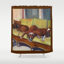 Boxer Dog Siesta Shower Curtain