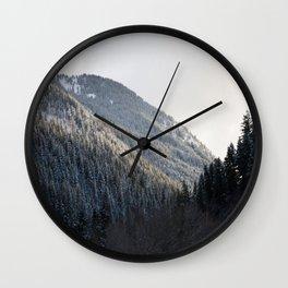 Powdered Trees Wall Clock