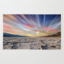 Stopping Time : Colorful Sky Landscape Rug