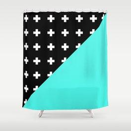 Memphis pattern 78 Shower Curtain