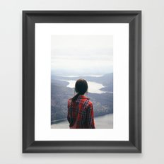 On Top of the World Framed Art Print
