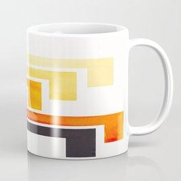 Orange Ancient Aztec Pattern Mid-century Modern Simple Geometric Pattern Watercolor Minimalist Art S Coffee Mug