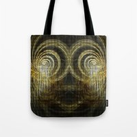 mask Tote Bags featuring Mask by Armine Nersisian