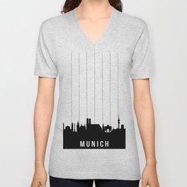 Munich Skyline Unisex V-Neck