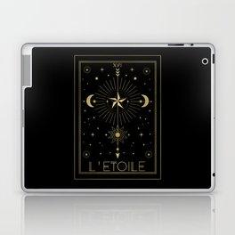 L'Etoile or The Star Tarot Gold Laptop & iPad Skin