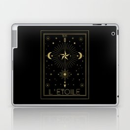L'Etoile or The Star Tarot Gold Laptop & iPad Skin