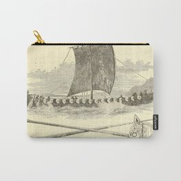 Vintage Vikings Artwork and Illustrations Carry-All Pouch