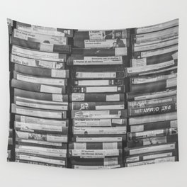 VHS Retro (Black and White) Wall Tapestry