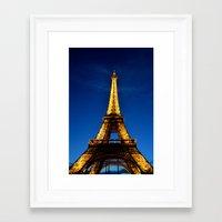 eiffel Framed Art Prints featuring Eiffel by Heather Hartley