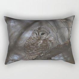 Barred Owl Rectangular Pillow