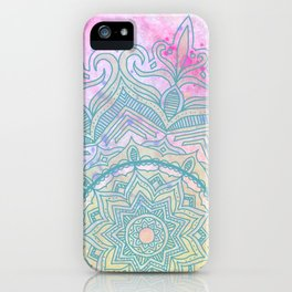pink splash mandala iPhone Case