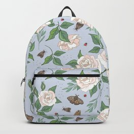 Roses, Moths and Ladybirds Backpack