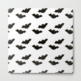 Halloween Flying Bat Metal Print