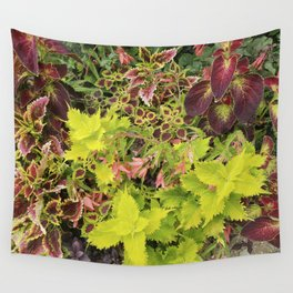 Foliage Fiesta With A Touch Of Begonia Wall Tapestry