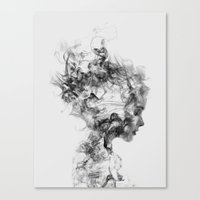 smoke Canvas Prints featuring Dissolve Me by Daniel Taylor