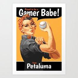 Gamer Babe - Petaluma Art Print