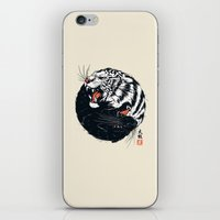 tiger iPhone & iPod Skins featuring Taichi Tiger by Steven Toang