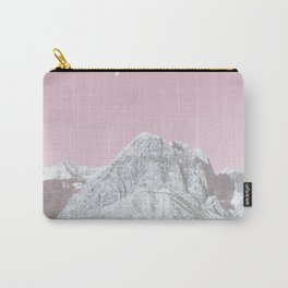 Mojave Pink Sky // Red Rock Canyon Las Vegas Desert Landscape Snowstorm Moon Mountains Carry-All Pouch