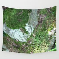 moss Wall Tapestries featuring moss by L Step