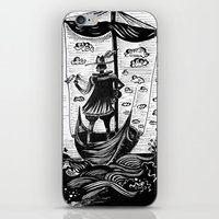voyage iPhone & iPod Skins featuring Voyage by Daizy Boo