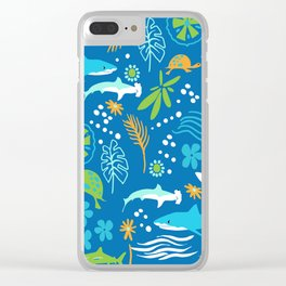 Sharks, Sting Rays and Turtles Clear iPhone Case