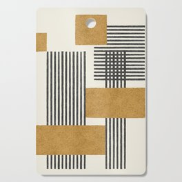 Stripes and Square Composition - Abstract Cutting Board