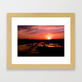 Mud Puddle Framed Art Print