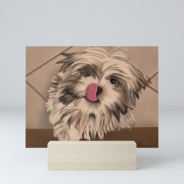 Shih Tzu Tan & Brown Puppy Mini Art Print