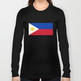 Republic of the Philippines national flag (50% of commission WILL go to help them recover) Long Sleeve T-shirt