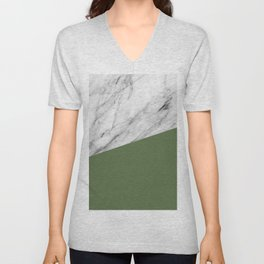 Marble and Kale Color Unisex V-Neck