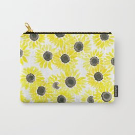 Sunflowers watercolor pattern Carry-All Pouch