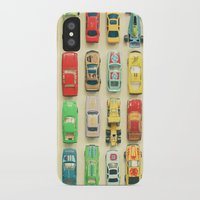 party iPhone & iPod Cases featuring Car Park by Cassia Beck