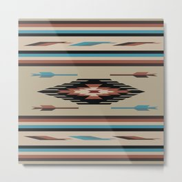 American Native Pattern No. 115 Metal Print