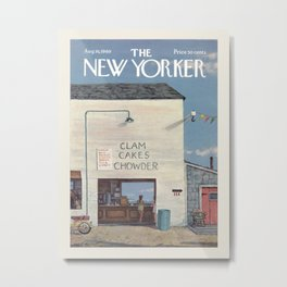 """Cover of """" The new Yorker"""" magazine. Aug. 16 1969. Metal Print"""