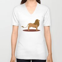 lannister V-neck T-shirts featuring Hear Me Roar by Alexandra Sutherland
