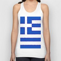 greek Tank Tops featuring Greek flag by Created by Eleni